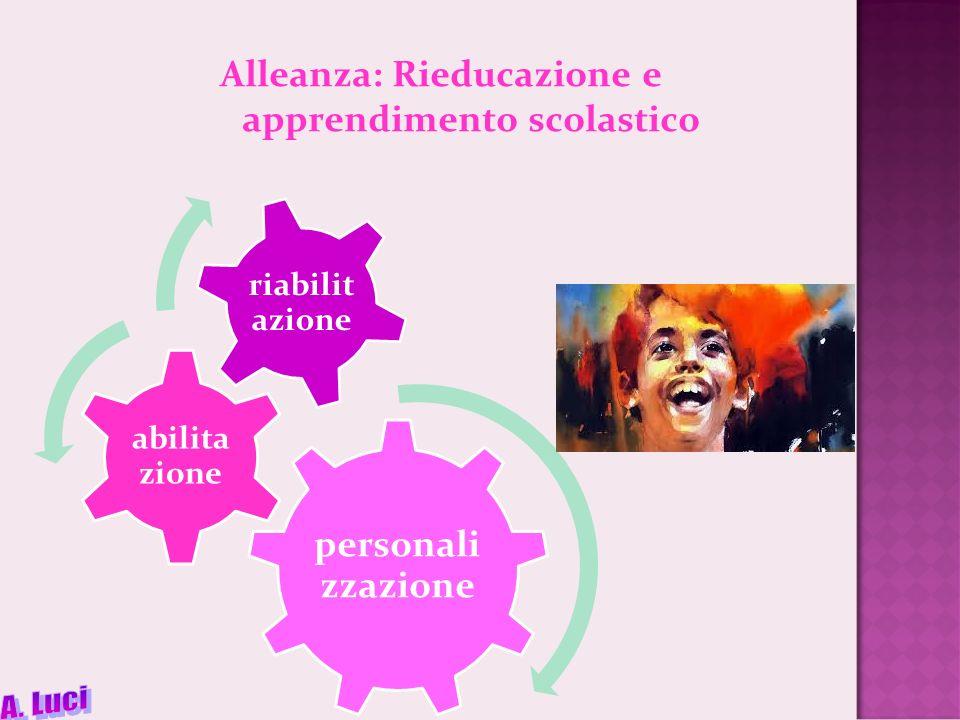 Alleanza: Rieducazione e apprendimento scolastico personali zzazione abilita zione riabilit azione