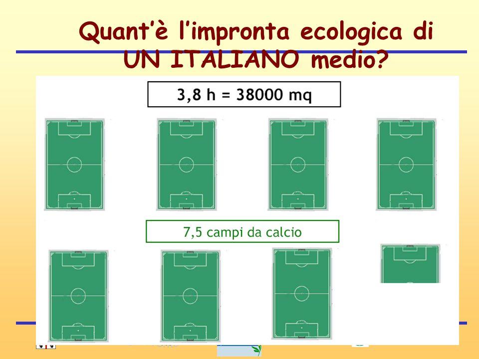 10 Quantè limpronta ecologica di UN ITALIANO medio?