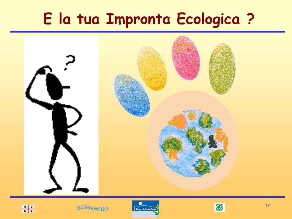 14 E la tua Impronta Ecologica ?