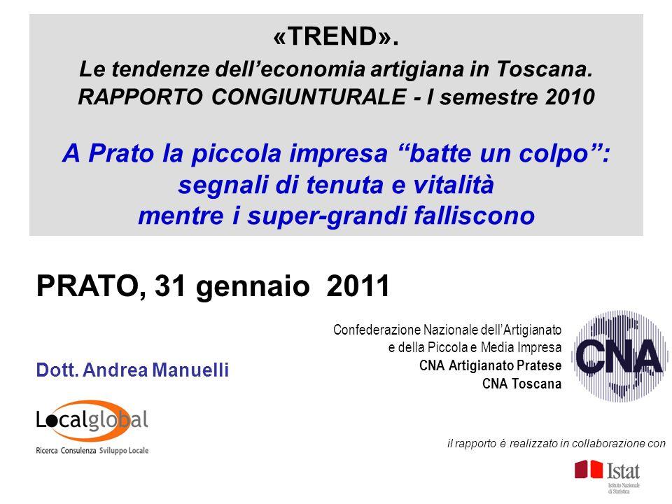 «TREND». Le tendenze delleconomia artigiana in Toscana.