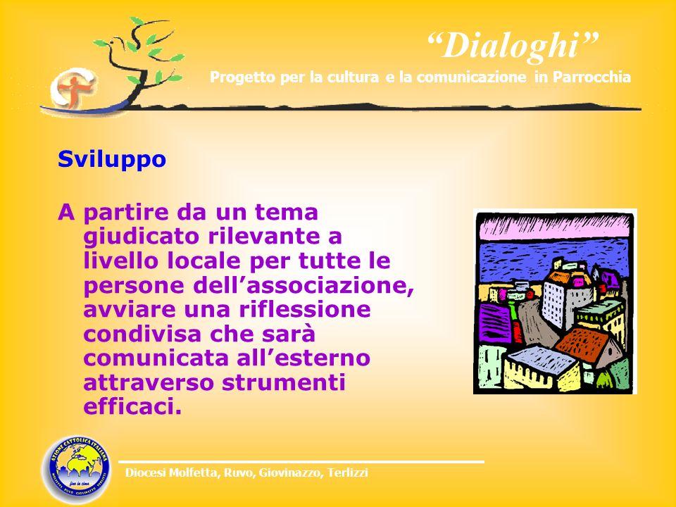 Dialoghi Progetto per la cultura e la comunicazione in Parrocchia Diocesi Molfetta, Ruvo, Giovinazzo, Terlizzi Sviluppo A partire da un tema giudicato