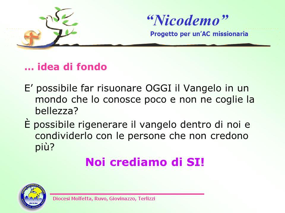 Nicodemo Progetto per unAC missionaria Diocesi Molfetta, Ruvo, Giovinazzo, Terlizzi … idea di fondo E possibile far risuonare OGGI il Vangelo in un mo