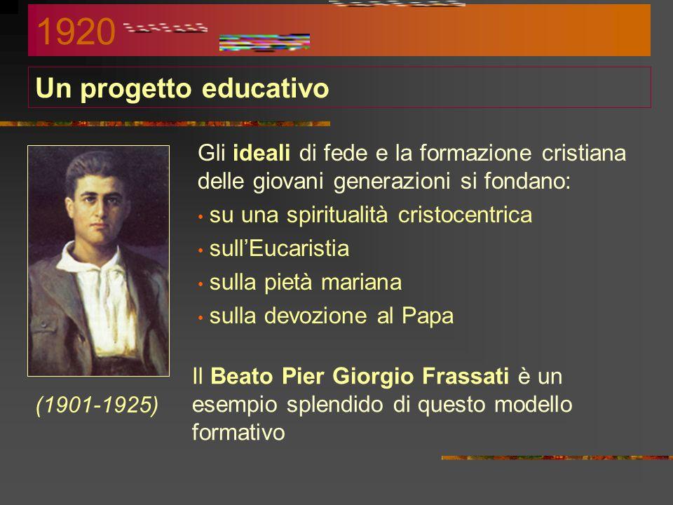 La riorganizzazione di Pio XI Durante i primi anni di pontificato di Pio XI si procede a ristrutturare complessivamente tutta l'Associazione. Con gli