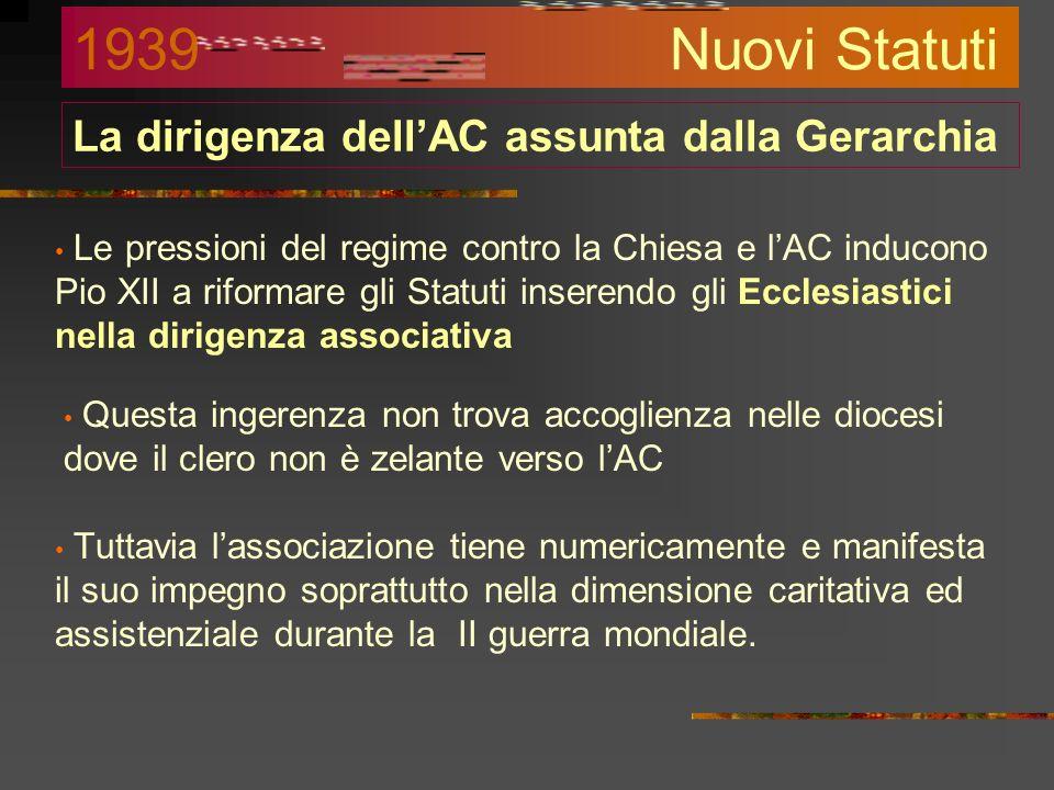 Lo scontro col fascismo Contravvenendo agli accordi sanciti con il Concordato del 1929, Mussolini invia ai prefetti l'ordine di chiudere i circoli del