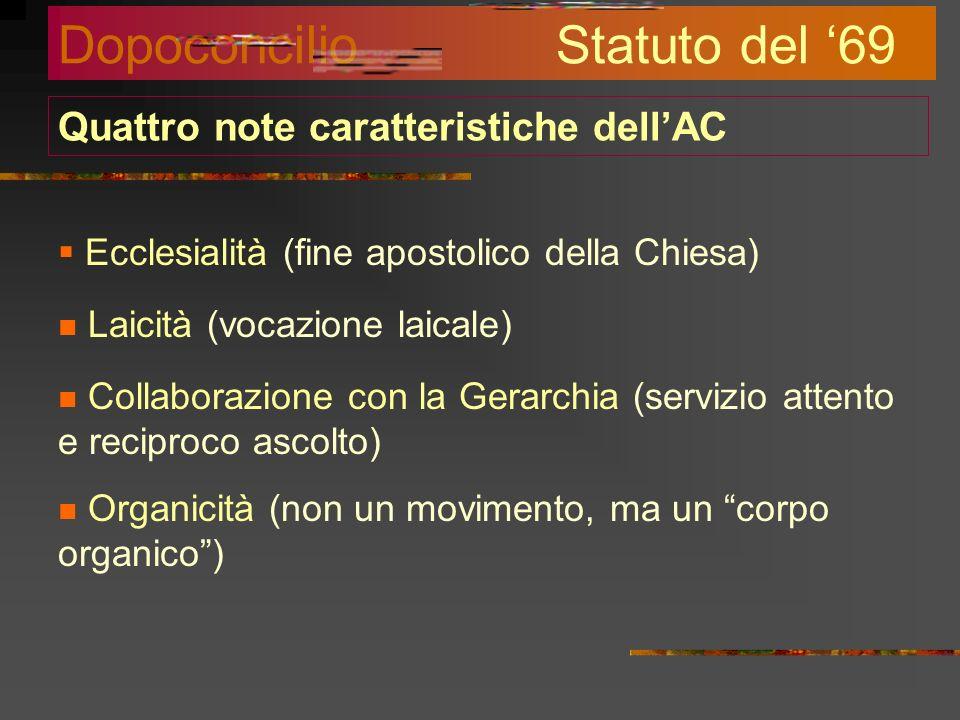 Il rinnovamento conciliare e la selta religiosa Nel 1962 si apre il Concilio Vaticano II. Nel 1964 viene nominato Presidente della Giunta Centrale di