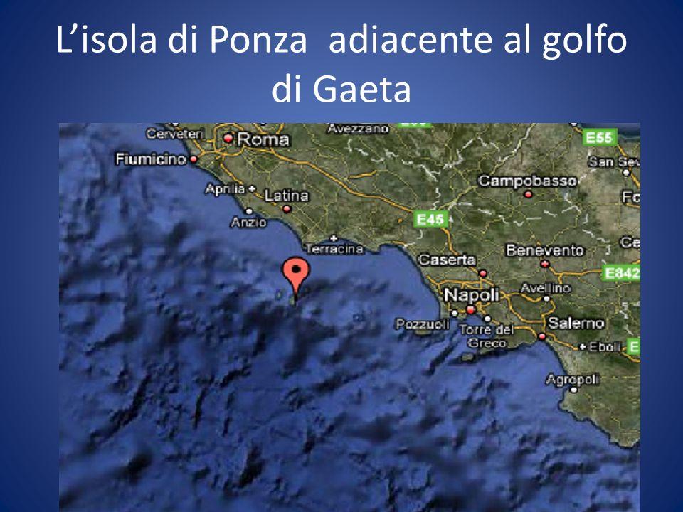 Lisola di Ponza adiacente al golfo di Gaeta