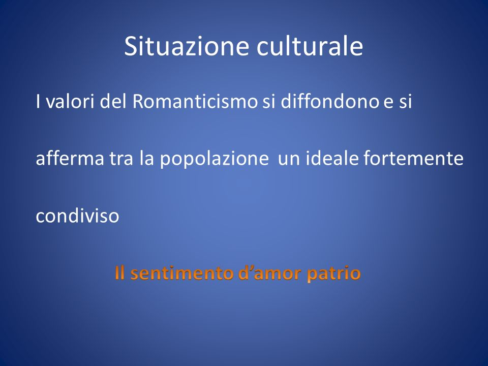 Situazione culturale