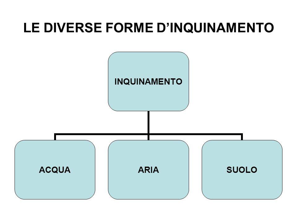 LE DIVERSE FORME DINQUINAMENTO INQUINAMENTO ACQUAARIASUOLO