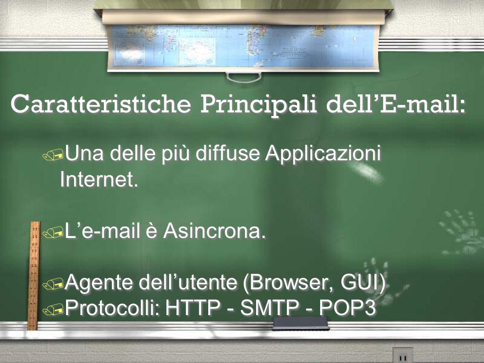 LA POSTA ELETTRONICA @ LA POSTA ELETTRONICA @ Unità didattica: Internet e le reti Informatiche Unità didattica: Internet e le reti Informatiche