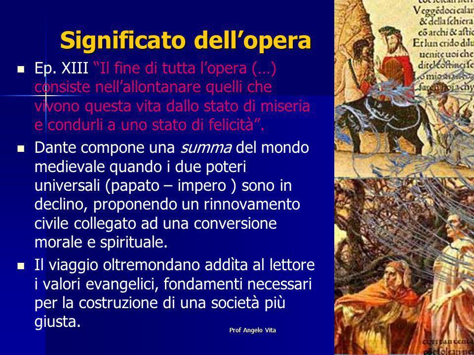 Prof Angelo Vita Significato dellopera Ep. XIII Il fine di tutta lopera (…) consiste nellallontanare quelli che vivono questa vita dallo stato di mise