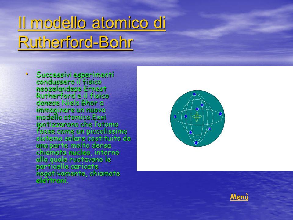 Il modello atomico di Rutherford-Bohr Il modello atomico di Rutherford-Bohr Successivi esperimenti condussero il fisico neozelandese Ernest Rutherford
