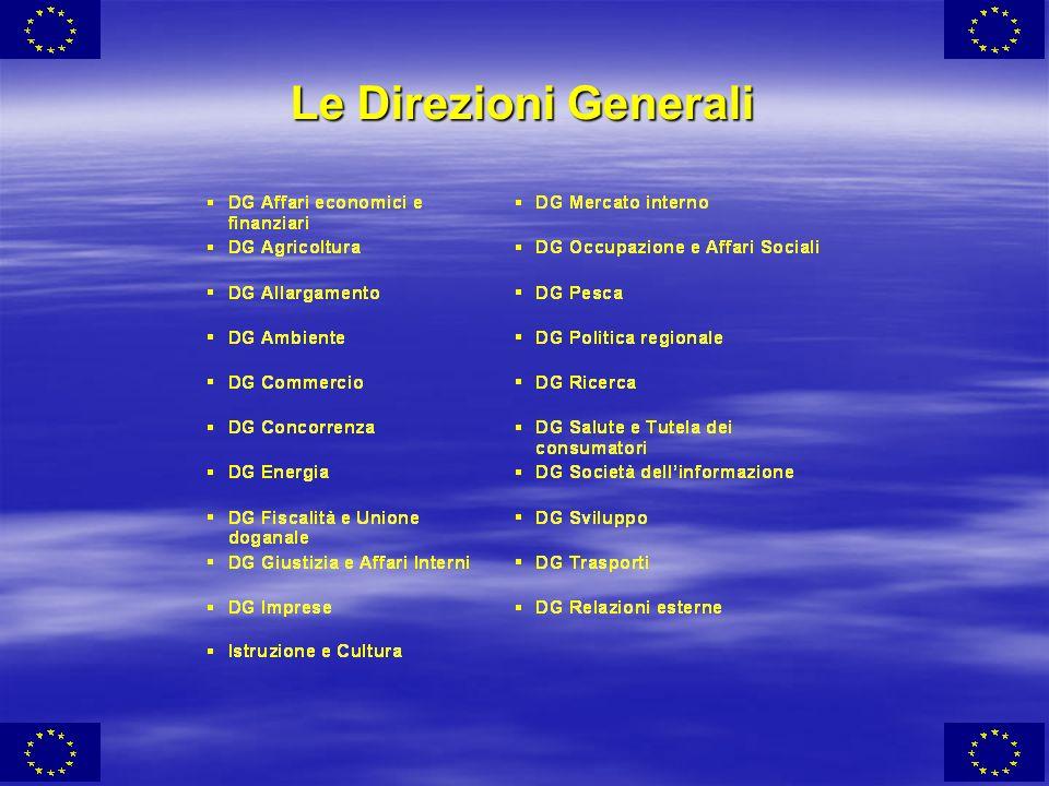 Le Direzioni Generali