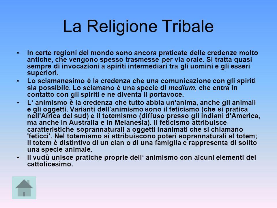 La Religione Tribale In certe regioni del mondo sono ancora praticate delle credenze molto antiche, che vengono spesso trasmesse per via orale. Si tra
