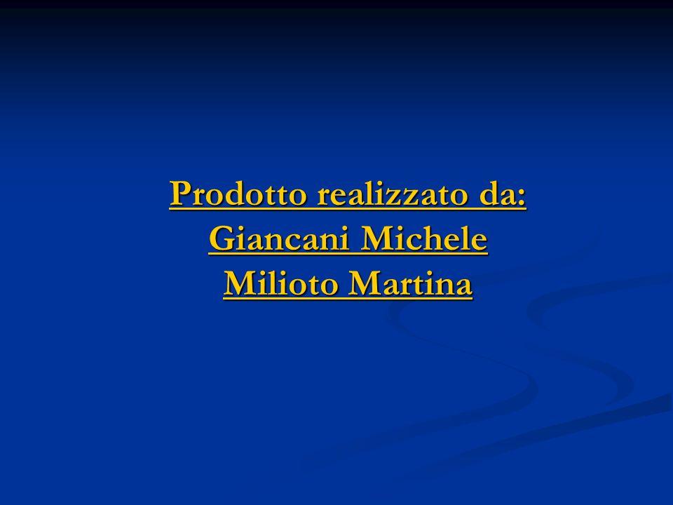 Prodotto realizzato da: Giancani Michele Milioto Martina Prodotto realizzato da: Giancani Michele Milioto Martina