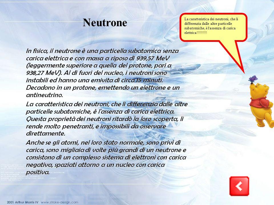 I protoni sono particelle nucleari dotate di carica positiva uguale e opposta a quella dellelettrone!!!!!!!!! Protone Particella nucleare dotata di ca