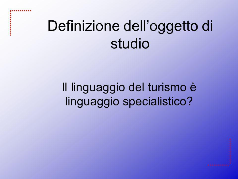 Standard Language of LSP language tourism Maurizio Gotti Grahaman Dann