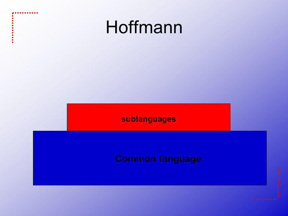 Hoffmann Common language sublanguages