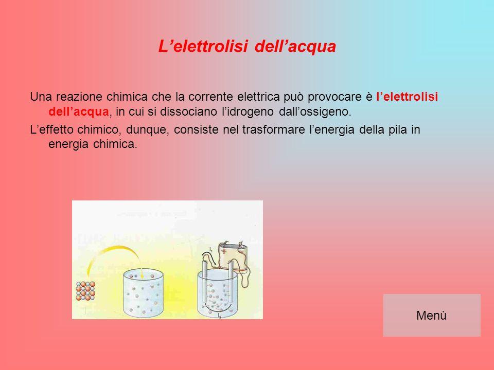 I poli Nella pila ci sono due lamelle chiamate poli o elettrodi.