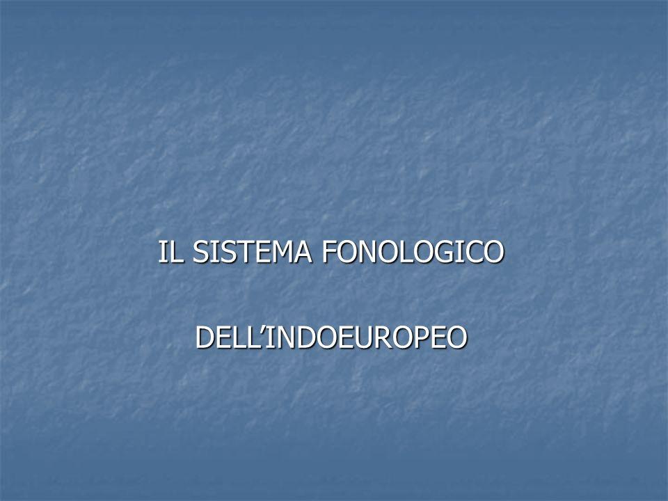 IL SISTEMA FONOLOGICO DELLINDOEUROPEO