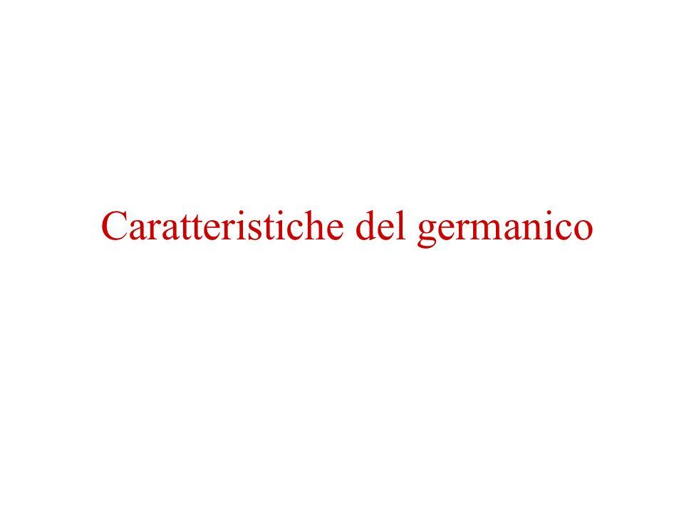 Caratteristiche del germanico