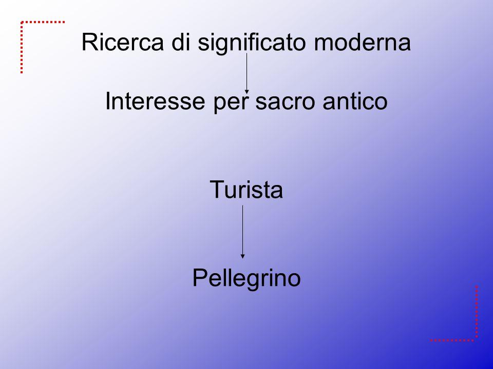 Ricerca di significato moderna Interesse per sacro antico Turista Pellegrino