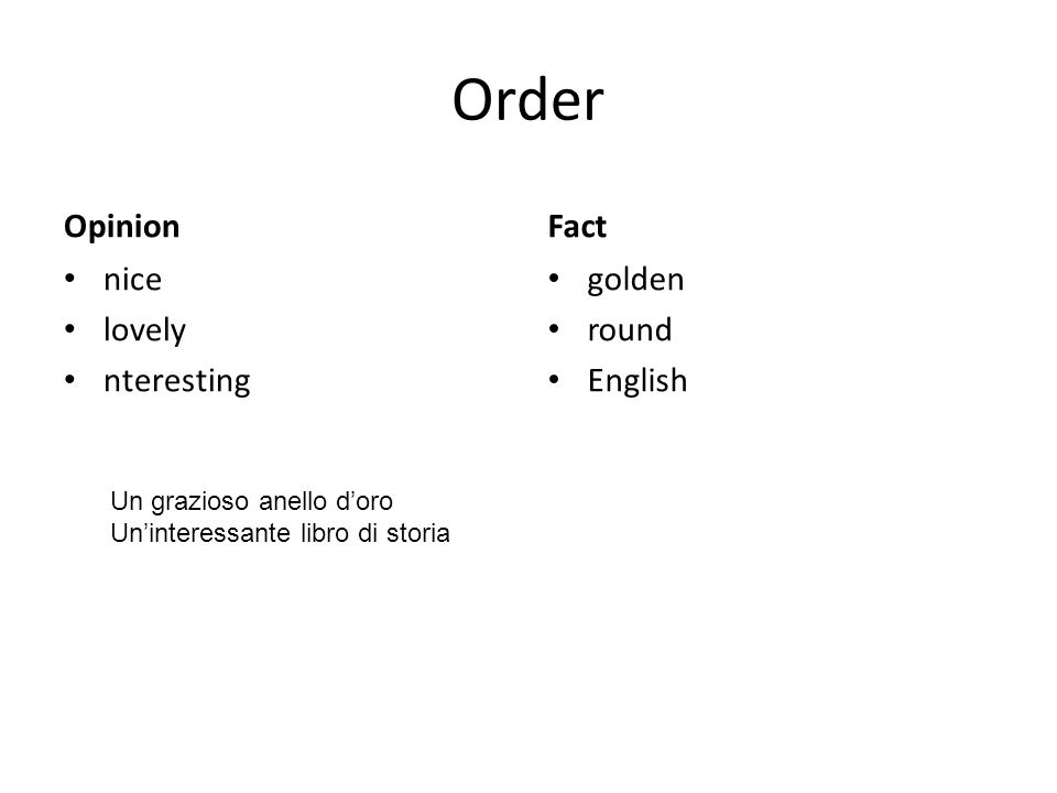 Order Opinion nice lovely nteresting Fact golden round English Un grazioso anello doro Uninteressante libro di storia