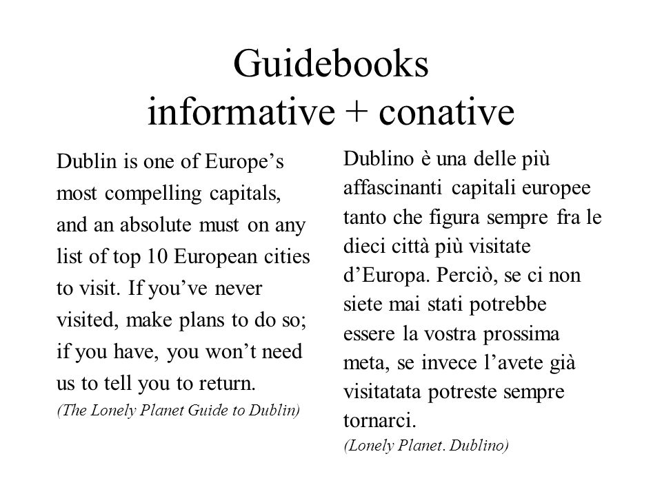 Guidebooks informative + conative Dublin is one of Europes most compelling capitals, and an absolute must on any list of top 10 European cities to vis