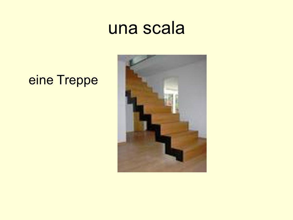 una scala eine Treppe