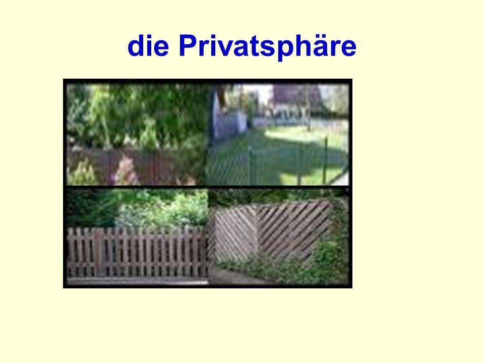 die Privatsphäre