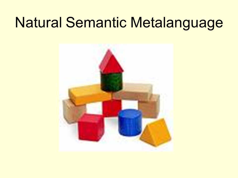 Natural Semantic Metalanguage
