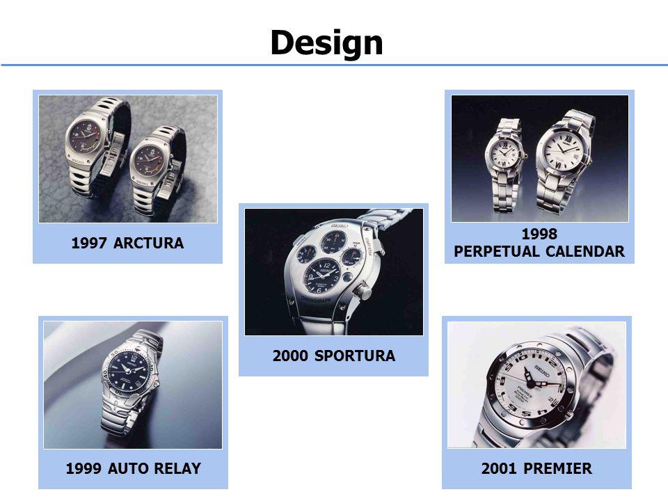 Design 1997 ARCTURA 1998 PERPETUAL CALENDAR 1999 AUTO RELAY2000 SPORTURA2001 PREMIER