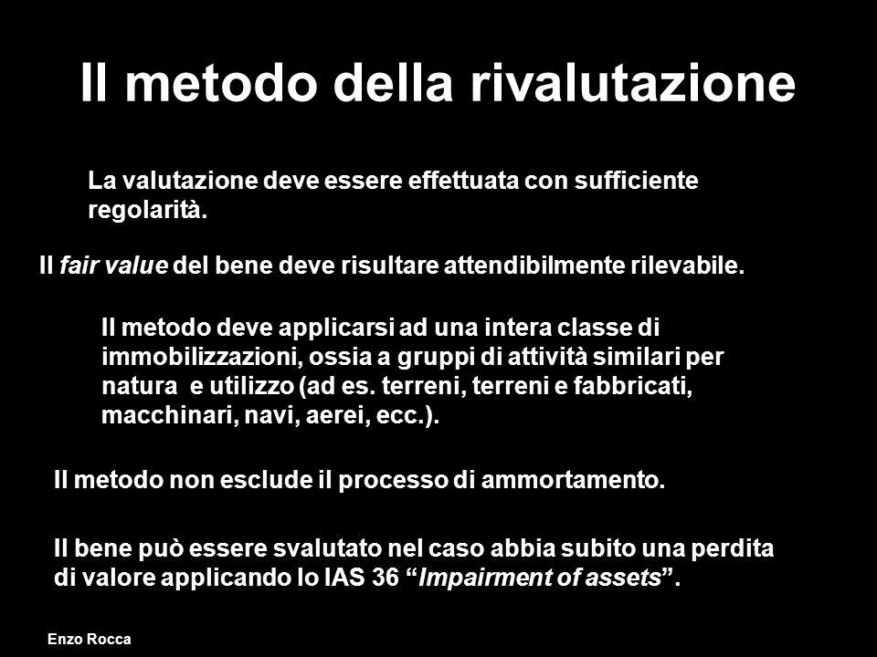 Il metodo della rivalutazione La valutazione deve essere effettuata con sufficiente regolarità.