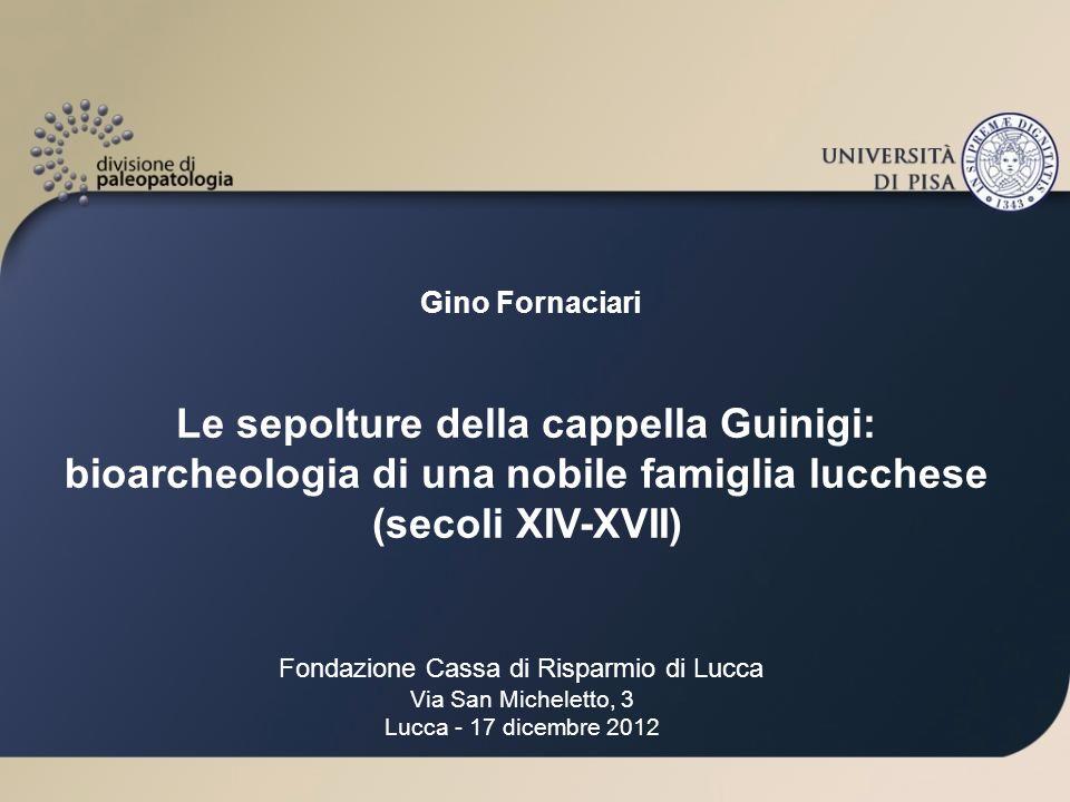 Ulteriori indagini: Sarebbe utile conoscere la concentrazione dell 18 O nelle acque del castello di Zuccarello allepoca di Ilaria.
