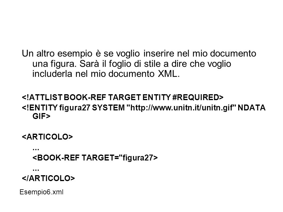 Un altro esempio è se voglio inserire nel mio documento una figura.