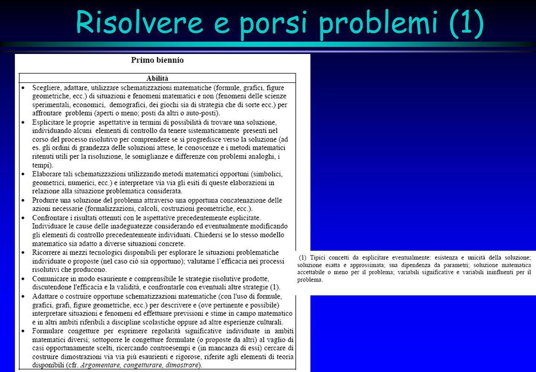 Risolvere e porsi problemi (1)