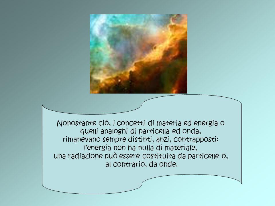 La Fisica dei quanti ha avuto il merito di evidenziare sia le caratteristiche corpuscolari della luce e delle radiazioni, in genere classicamente considerate onde, sia le caratteristiche ondulatorie della materia, trattata invece dal punto di vista classico come singola particella o come agglomerato di particelle.