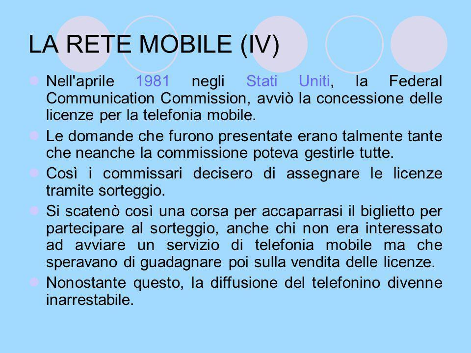 LA VENDITA DEL PRIMO TELEFONINO Nel 1983 veniva lanciato sul mercato il primo telefono cellulare: si trattava di un Motorola DynaTac 8000X, pesava quasi 8 etti e fu denominato per la sua forma, il mattone.