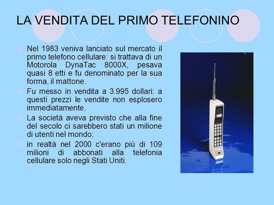 UNA DIFFUSIONE SENZA FINE….Nel 1986, in Europa, furono messi in vendita i primi cellulari.