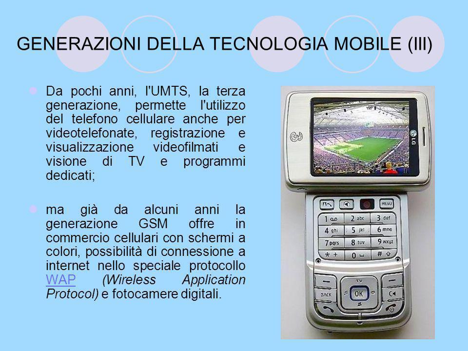 FUNZIONI +++++++ I nuovi modelli di telefono cellulare possono essere dotati di schermo a colori, fotocamera digitale, lettore MP3, radio, Bluetooth, Wi-Fi, programmi di sincronizzazione con PC (messaggi, calendario, rubrica indirizzi).