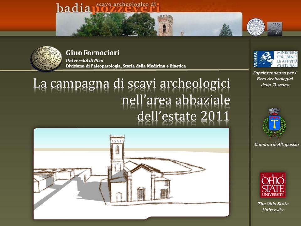 The Ohio State University Comune di Altopascio Soprintendenza per i Beni Archeologici della Toscana Università di Pisa Divisione di Paleopatologia, St