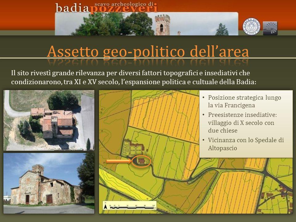 Il sito rivestì grande rilevanza per diversi fattori topografici e insediativi che condizionarono, tra XI e XV secolo, lespansione politica e cultuale