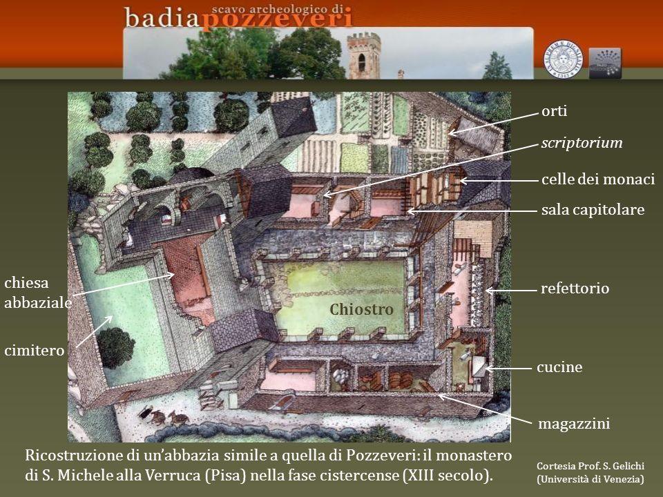 Ricostruzione di unabbazia simile a quella di Pozzeveri: il monastero di S.