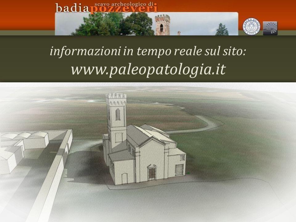 informazioni in tempo reale sul sito: www.paleopatologia.it