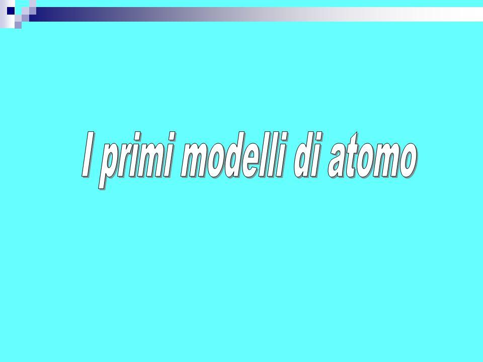 Thomson immaginò l atomo come una sfera solida in cui le diverse particelle, positive e negative, occupavano un volume proporzionale alla loro massa.