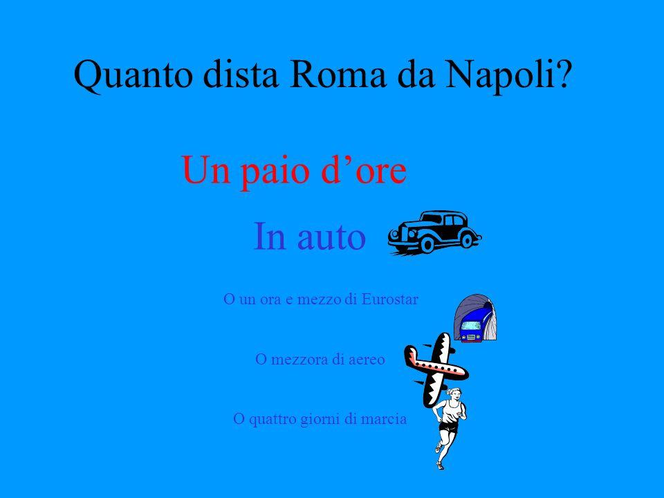 Quanto dista Roma da Napoli.