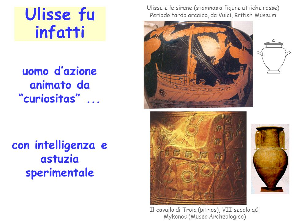 Ulisse fu infatti Ulisse e le sirene (stamnos a figure attiche rosse) Periodo tardo arcaico, da Vulci, British Museum uomo dazione animato da curiosit