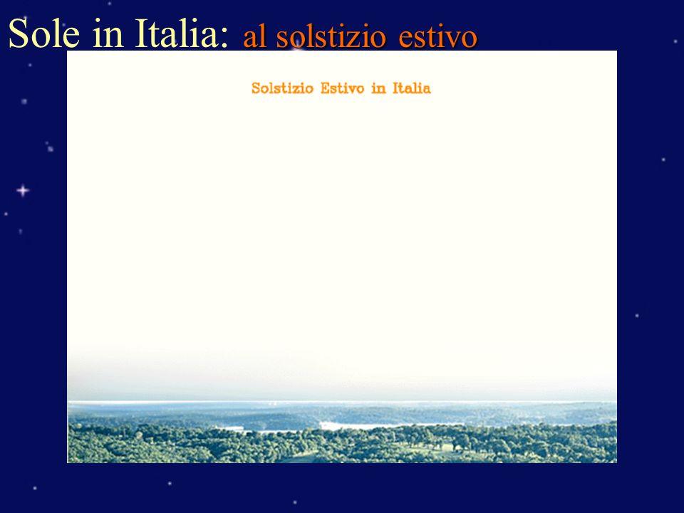 al solstizio estivo Sole in Italia: al solstizio estivo