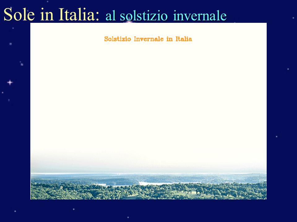 al solstizio invernale Sole in Italia: al solstizio invernale