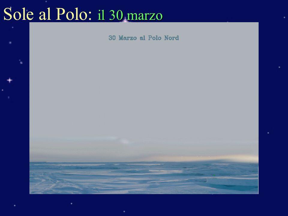 il 30 marzo Sole al Polo: il 30 marzo
