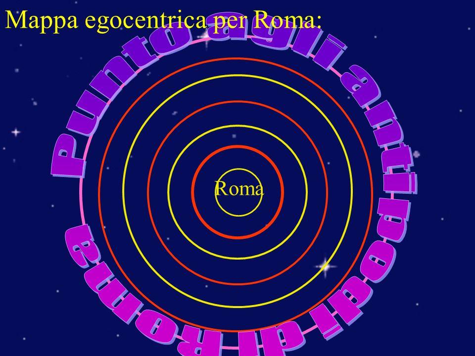 Roma Mappa egocentrica per Roma: